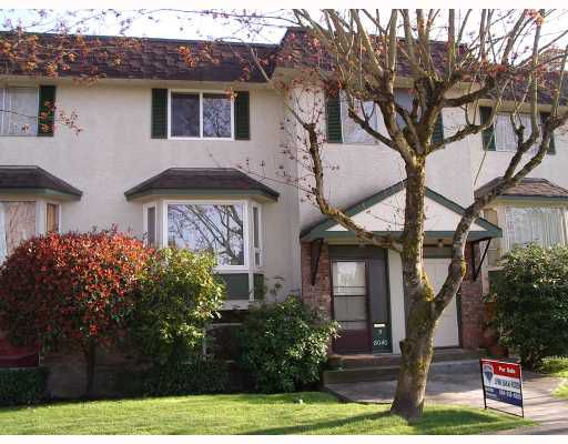 Main Photo: 3 8040 ROSEWELL Avenue in Richmond: South Arm Townhouse for sale : MLS®# V763241