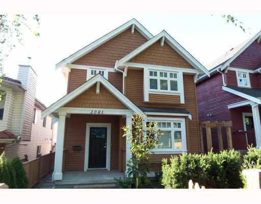 Main Photo: 2081 E 2ND Avenue in Vancouver: Grandview VE House 1/2 Duplex for sale (Vancouver East)  : MLS®# V780347