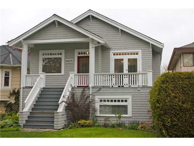 Main Photo: 4325 W 15TH Avenue in Vancouver: Point Grey House for sale (Vancouver West)  : MLS®# V825470