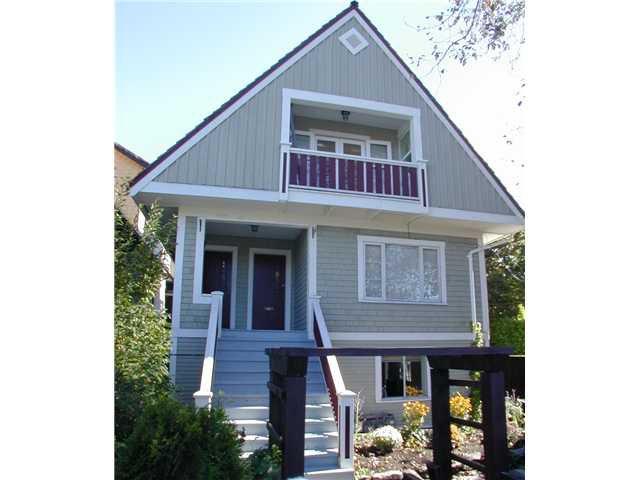 Main Photo: 1848 MACDONALD Street in Vancouver: Kitsilano House Triplex for sale (Vancouver West)  : MLS®# V852776