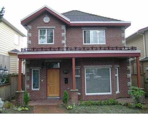 Main Photo: 1110 8TH AV in New Westminster: Uptown NW House for sale : MLS®# V561437