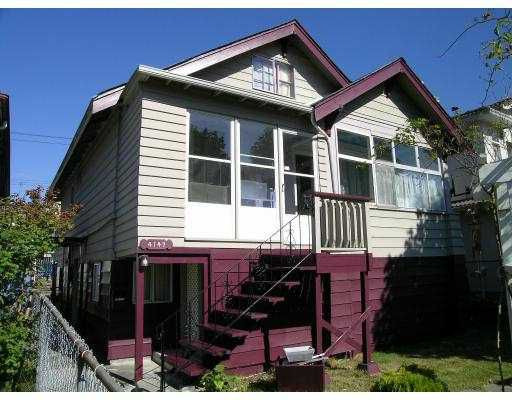 Main Photo: 4147 PENDER ST in Burnaby: Vancouver Heights House for sale (Burnaby North)  : MLS®# V558627