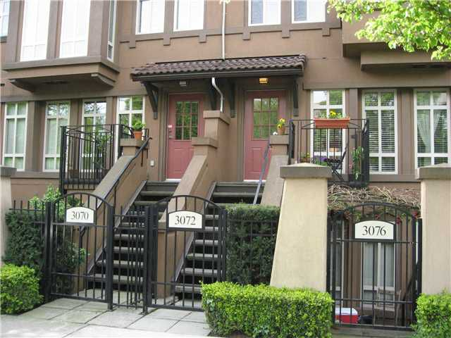 "Main Photo: 3072 W 4TH Avenue in Vancouver: Kitsilano Townhouse for sale in ""SANTA BARBARA"" (Vancouver West)  : MLS®# V823910"