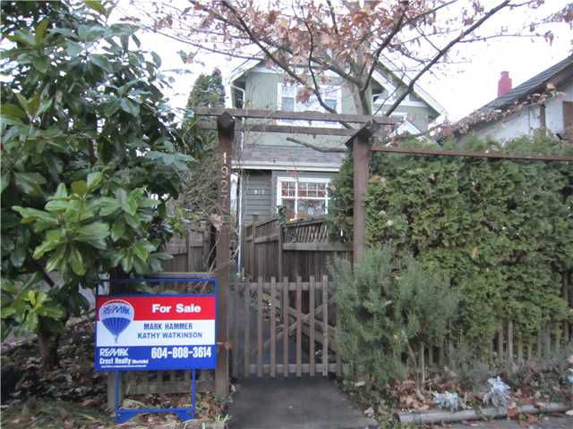 Main Photo: 1927 CHARLES Street in Vancouver: Grandview VE House 1/2 Duplex for sale (Vancouver East)  : MLS®# V859734