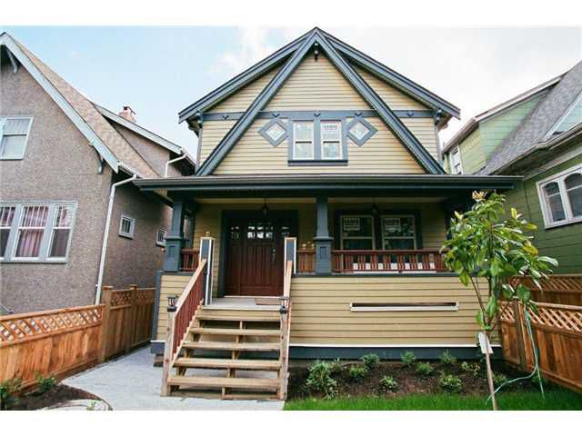 Main Photo: FRONT 778 E 11TH Avenue in Vancouver: Mount Pleasant VE House 1/2 Duplex for sale (Vancouver East)  : MLS®# V858969