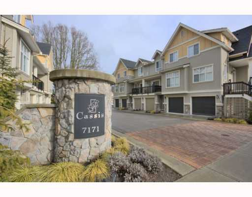 """Main Photo: 4 7171 STEVESTON Highway in Richmond: Broadmoor Townhouse for sale in """"CASSIS"""" : MLS®# V754791"""
