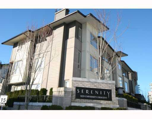 """Main Photo: 9 9229 UNIVERSITY Crescent in Burnaby: Simon Fraser Univer. Townhouse for sale in """"SERENITY"""" (Burnaby North)  : MLS®# V749493"""