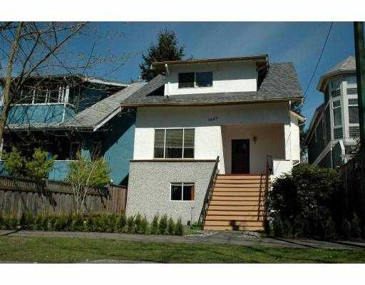 Main Photo: 3449 W 6TH Avenue in Vancouver: Kitsilano House for sale (Vancouver West)  : MLS®# V781504