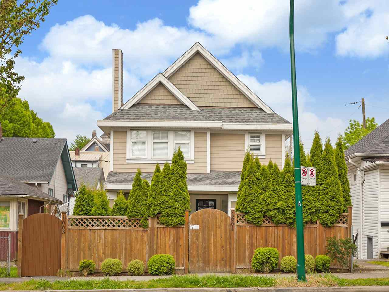 Main Photo: 1663 VICTORIA Drive in Vancouver: Grandview VE House 1/2 Duplex for sale (Vancouver East)  : MLS®# R2169220