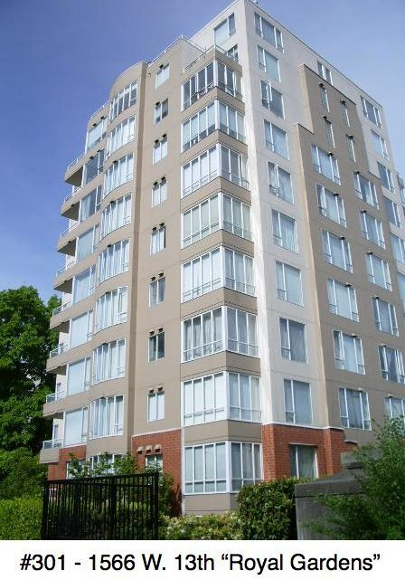 "Main Photo: 301 1566 W 13 Avenue in Vancouver: Fairview VW Condo for sale in ""Royal Gardens"" (Vancouver West)  : MLS®# R2011878"