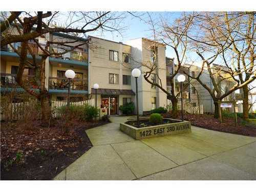 Main Photo: 102 1422 3RD Ave E in Vancouver East: Home for sale : MLS®# V1051909