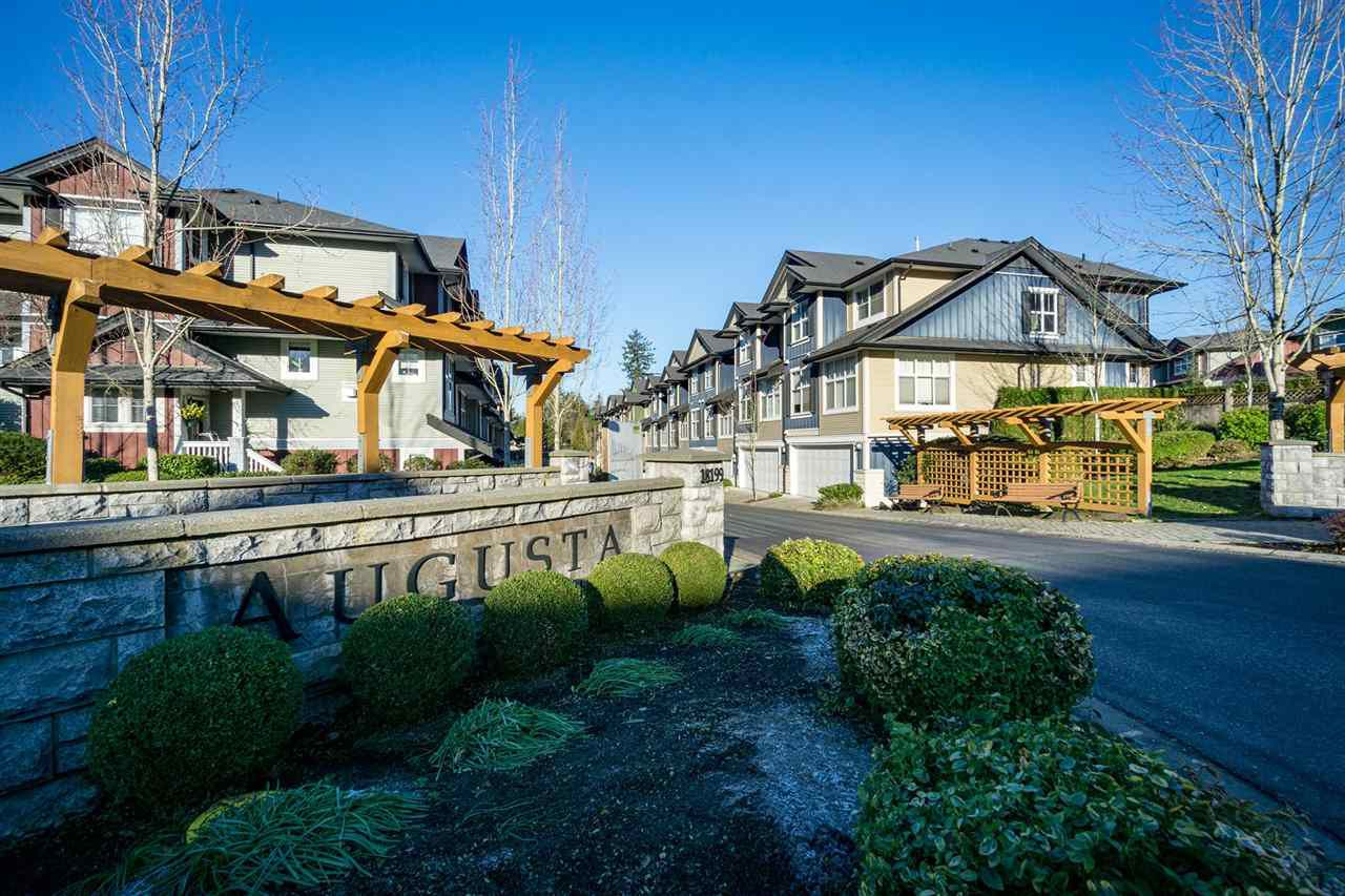 """Main Photo: 39 18199 70 Avenue in Surrey: Cloverdale BC Townhouse for sale in """"Augusta"""" (Cloverdale)  : MLS®# R2327342"""