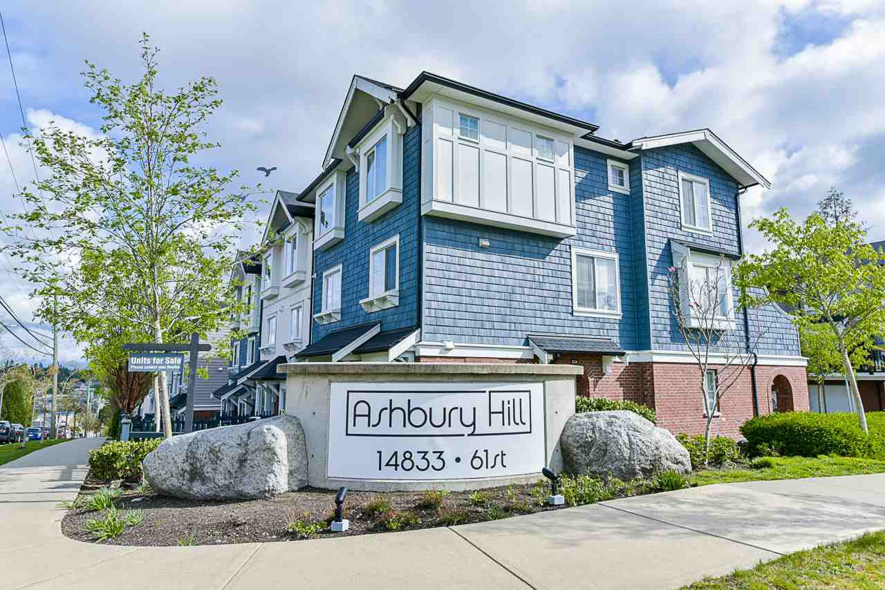 """Main Photo: 135 14833 61 Avenue in Surrey: Sullivan Station Townhouse for sale in """"Ashbury Hill"""" : MLS®# R2359702"""