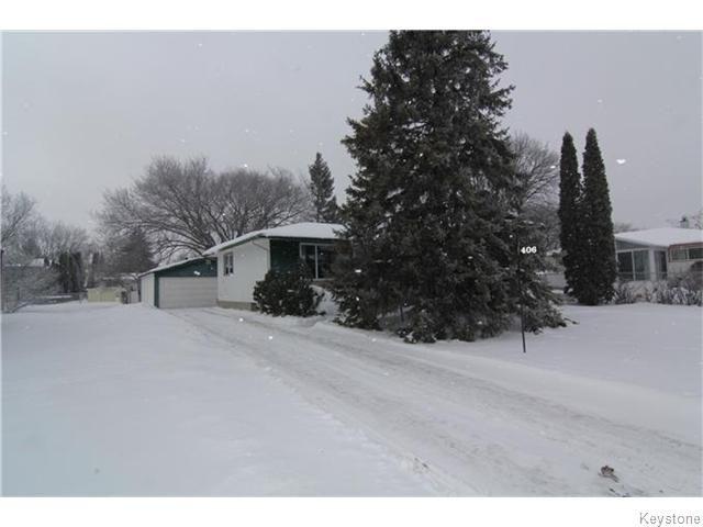 Main Photo: 406 Rouge Road in WINNIPEG: Westwood / Crestview Residential for sale (West Winnipeg)  : MLS®# 1600454