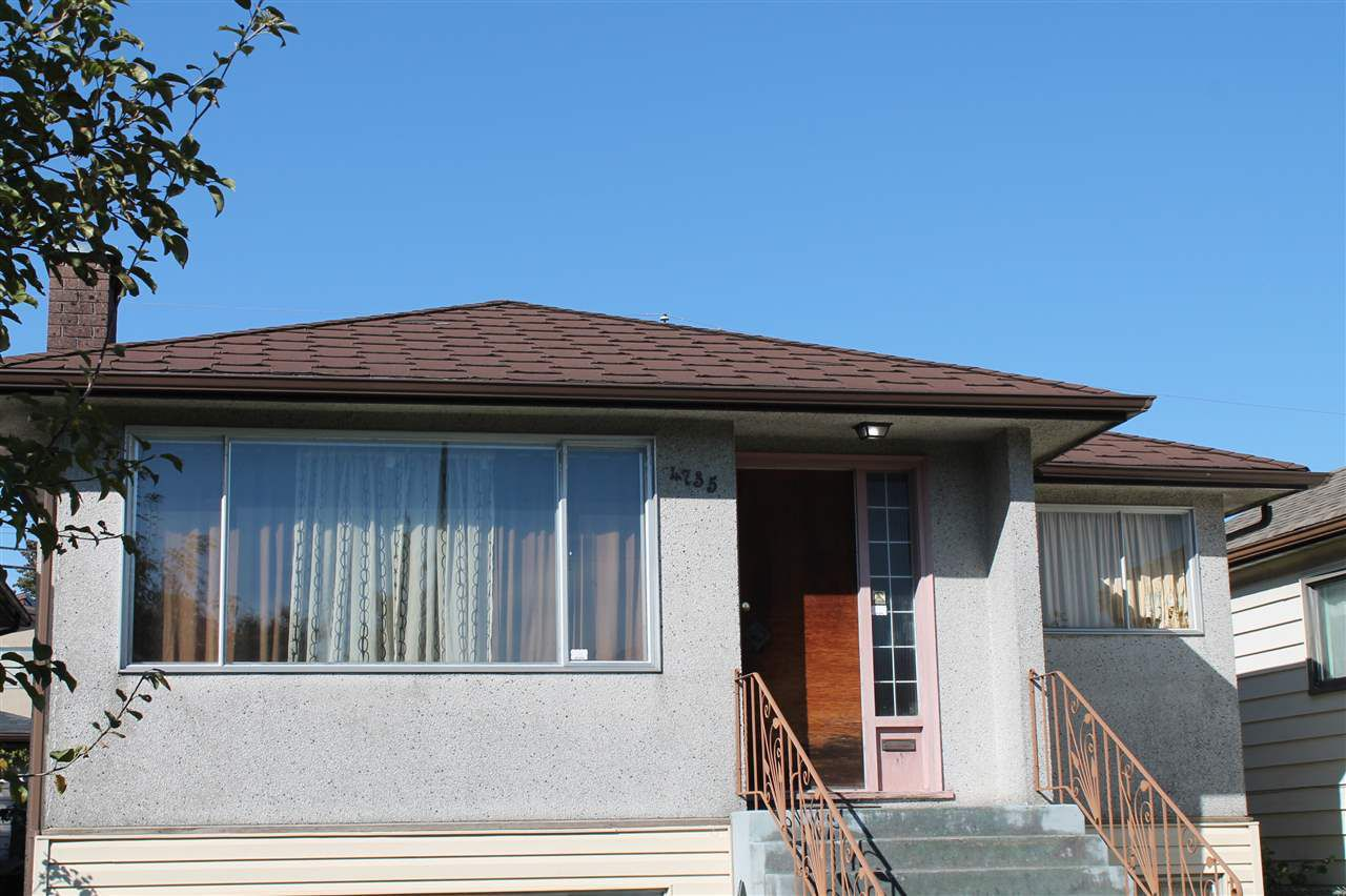 Main Photo: 4735 REID Street in Vancouver: Collingwood VE House for sale (Vancouver East)  : MLS®# R2160029