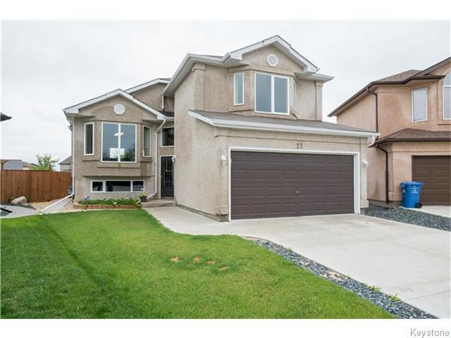 Main Photo: 27 Goldfinch Way in WINNIPEG: Fort Garry / Whyte Ridge / St Norbert Residential for sale (South Winnipeg)  : MLS®# 1522022