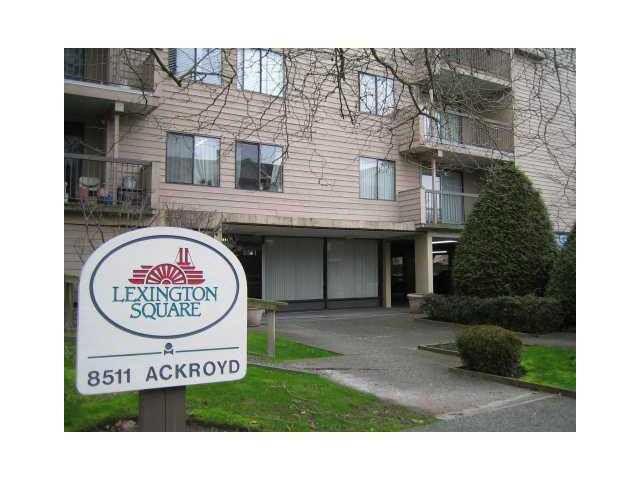 "Main Photo: 116 8511 ACKROYD Road in Richmond: Brighouse Condo for sale in ""LEXINGTON SQUARE"" : MLS®# R2121776"