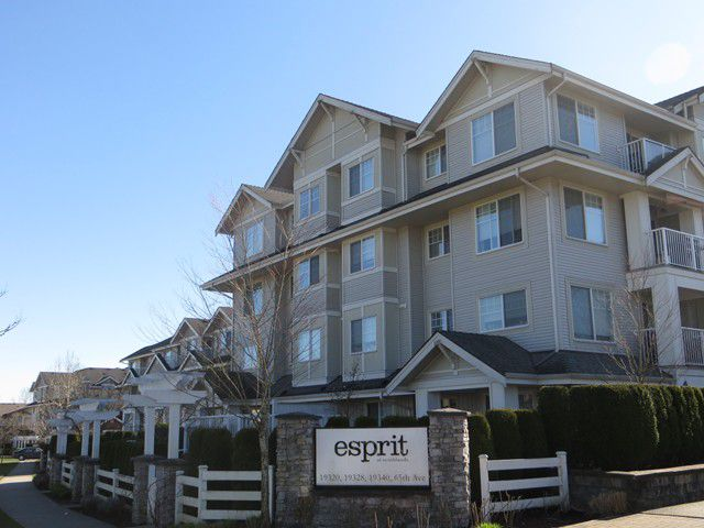 """Main Photo: 402 19320  65TH AV in Surrey: Clayton Condo for sale in """"Esprit at Southlands"""" (Cloverdale)  : MLS®# F1217825"""