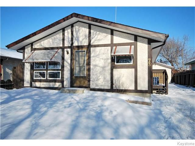 Main Photo: 73 Meadow Gate Drive in WINNIPEG: Transcona Residential for sale (North East Winnipeg)  : MLS®# 1603841