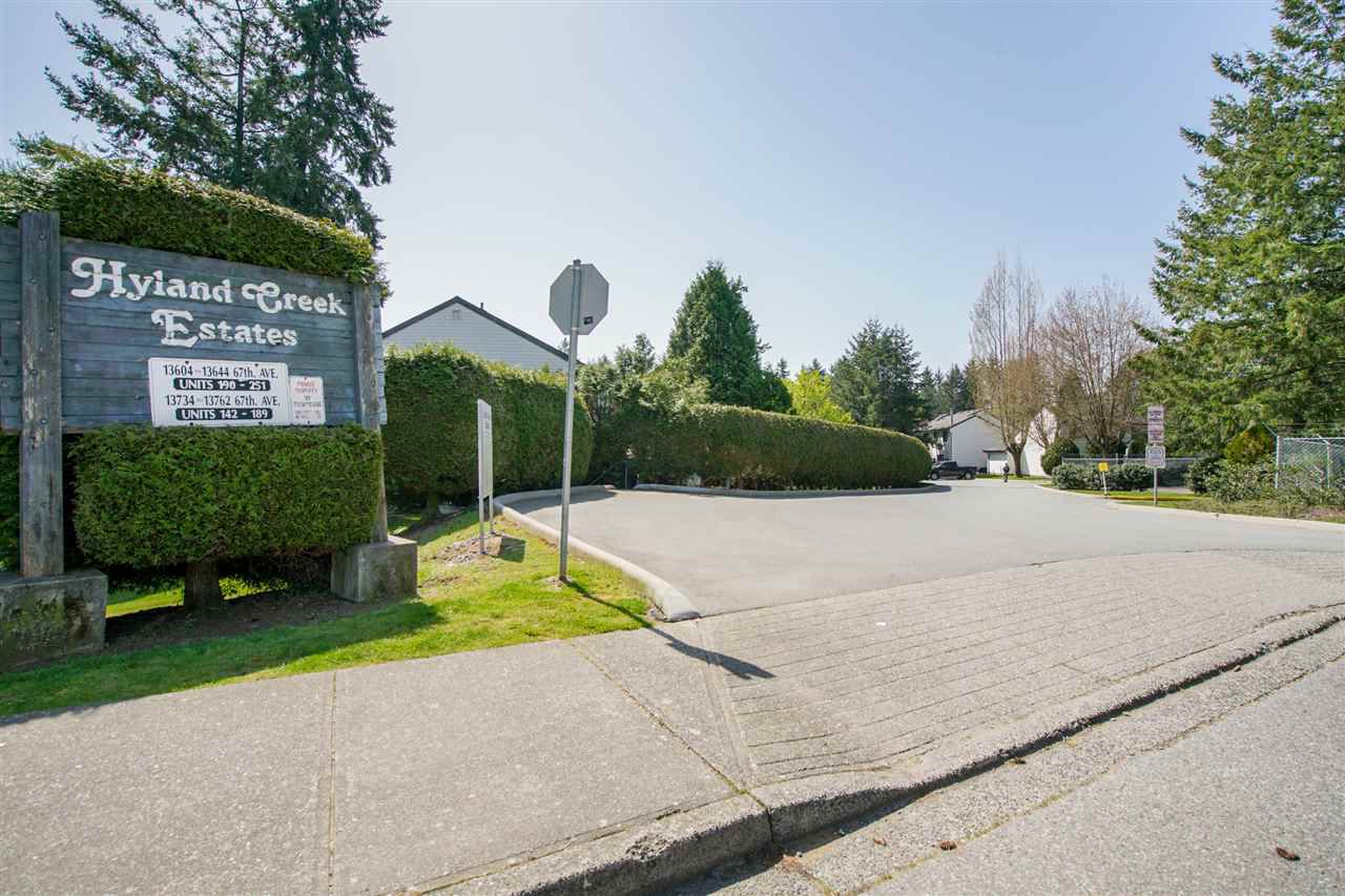 Main Photo: 197 13644 67 Avenue in Surrey: East Newton Townhouse for sale : MLS®# R2263370