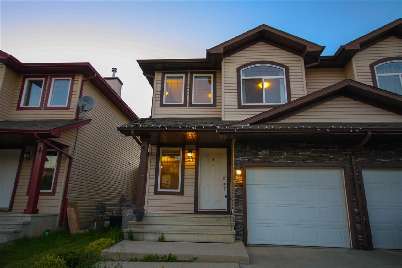 Main Photo: 23 Meridian Loop: Stony Plain House Half Duplex for sale : MLS®# E4160445