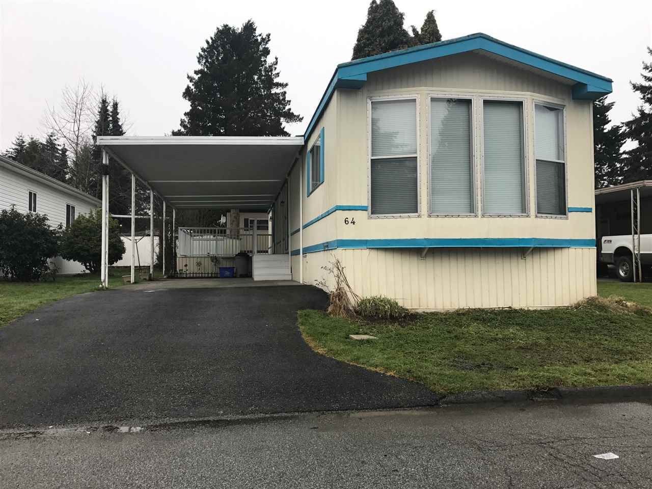 """Main Photo: 64 7790 KING GEORGE Boulevard in Surrey: East Newton Manufactured Home for sale in """"CRISPEN BAY"""" : MLS®# R2140174"""