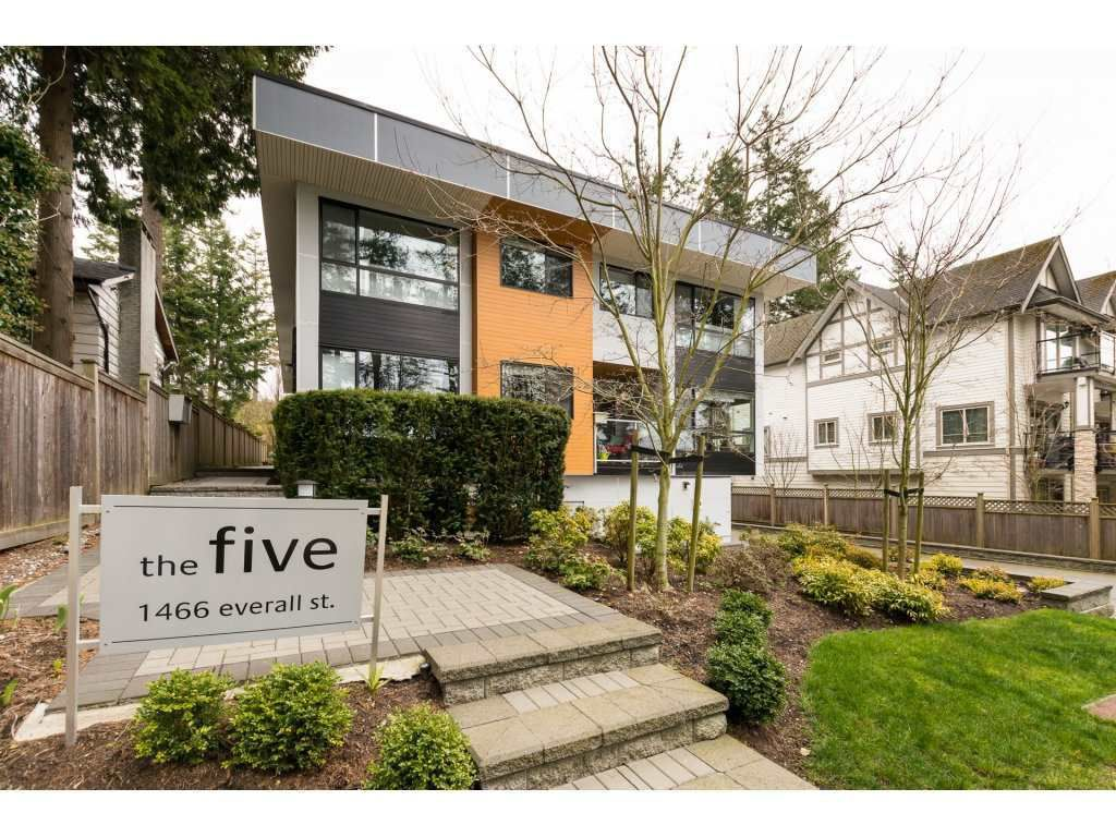 """Main Photo: 3 1466 EVERALL Street: White Rock Townhouse for sale in """"THE FIVE"""" (South Surrey White Rock)  : MLS®# R2351081"""