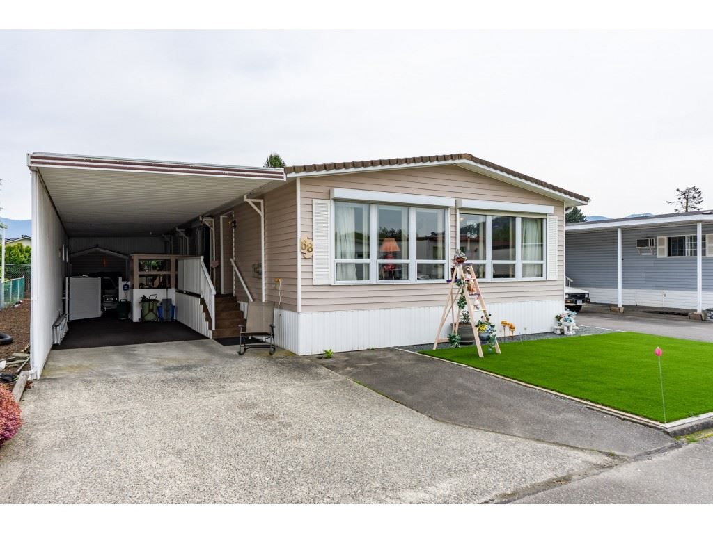 Main Photo: 68 9055 ASHWELL Road in Chilliwack: Chilliwack W Young-Well Manufactured Home for sale : MLS®# R2363514