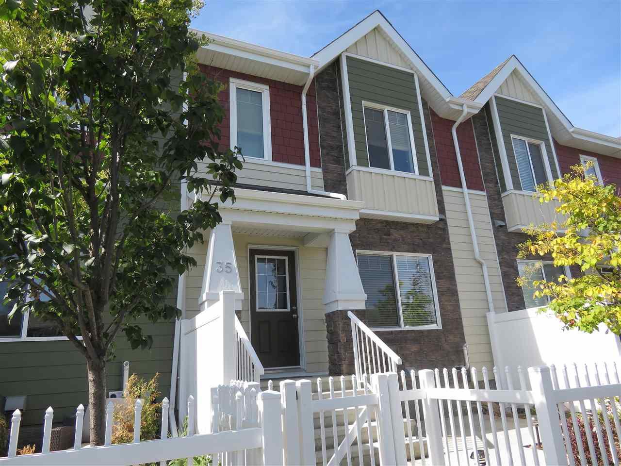Main Photo: 35 2003 RABBIT HILL Road in Edmonton: Zone 14 Townhouse for sale : MLS®# E4128154