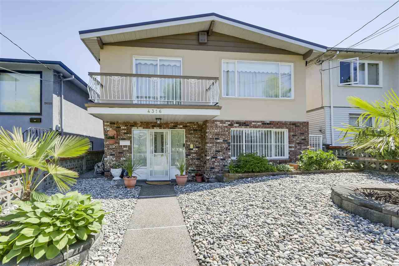 Main Photo: 4316 BEATRICE Street in Vancouver: Victoria VE House for sale (Vancouver East)  : MLS®# R2294008