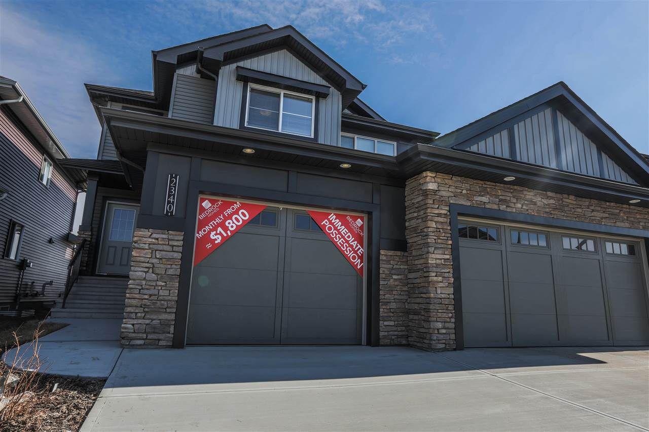 Main Photo: 2340 WONNACOTT Crescent in Edmonton: Zone 53 House Half Duplex for sale : MLS®# E4150600