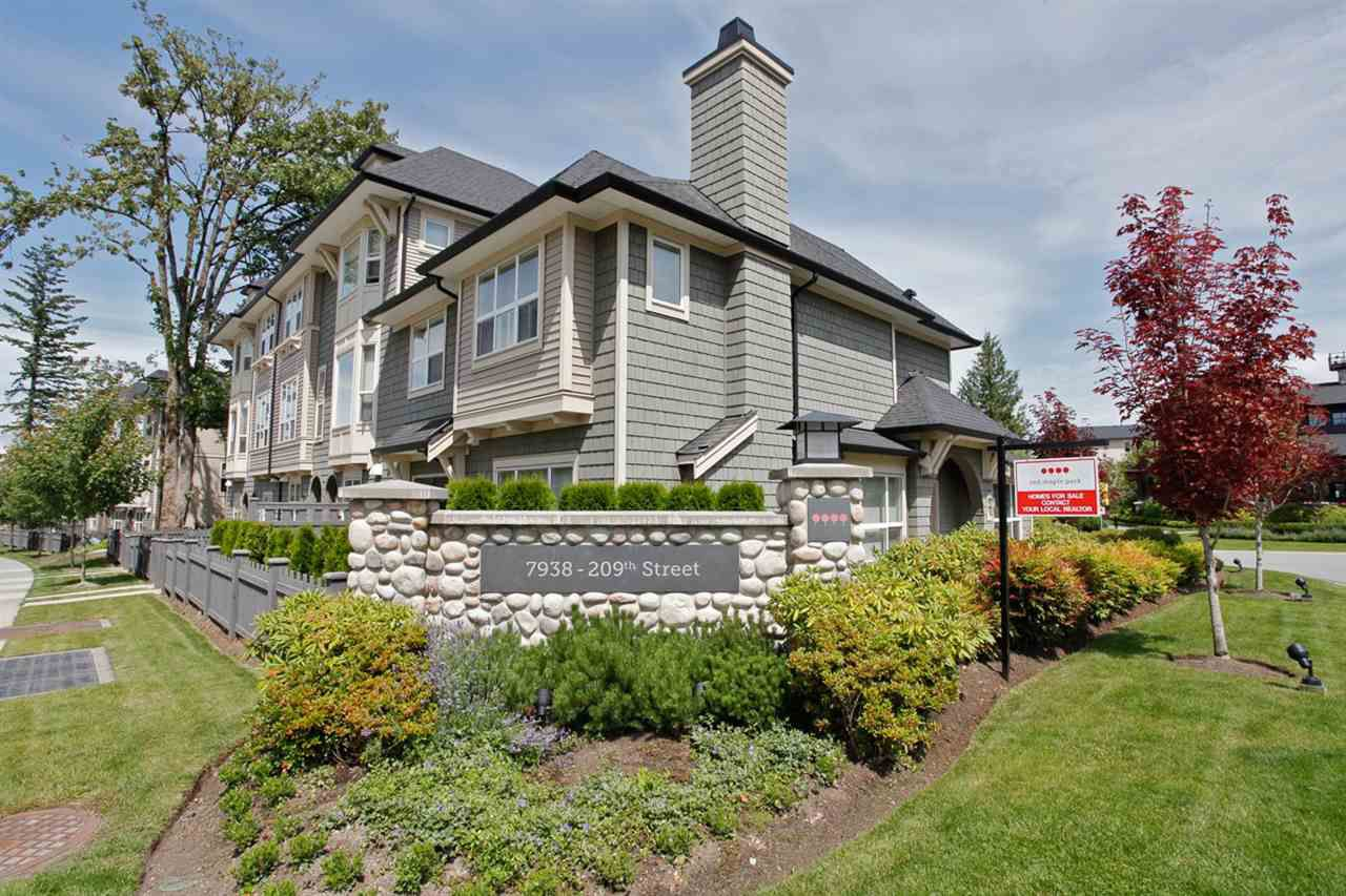 Main Photo: 47 7938 209 STREET in : Willoughby Heights Townhouse for sale : MLS®# R2045326