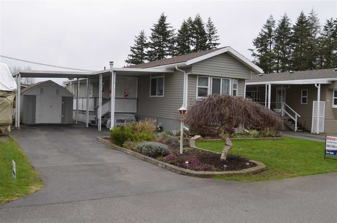 """Main Photo: 74 31313 LIVINGSTONE Avenue in Abbotsford: Abbotsford West Manufactured Home for sale in """"Paradise Park"""" : MLS®# R2152375"""