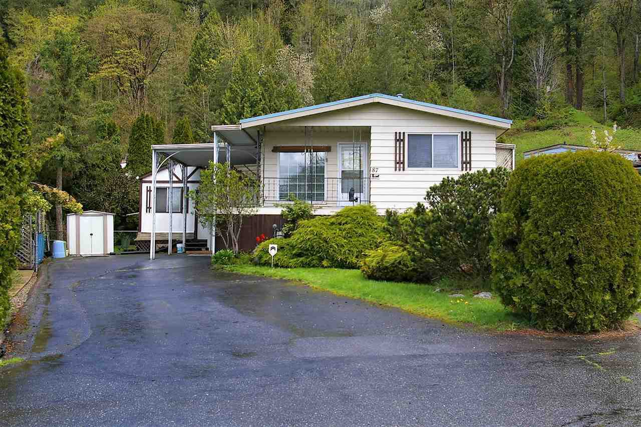 "Main Photo: 87 46511 CHILLIWACK LAKE Road in Sardis - Chwk River Valley: Chilliwack River Valley Manufactured Home for sale in ""Baker Trail Estates"" (Sardis)  : MLS®# R2160647"