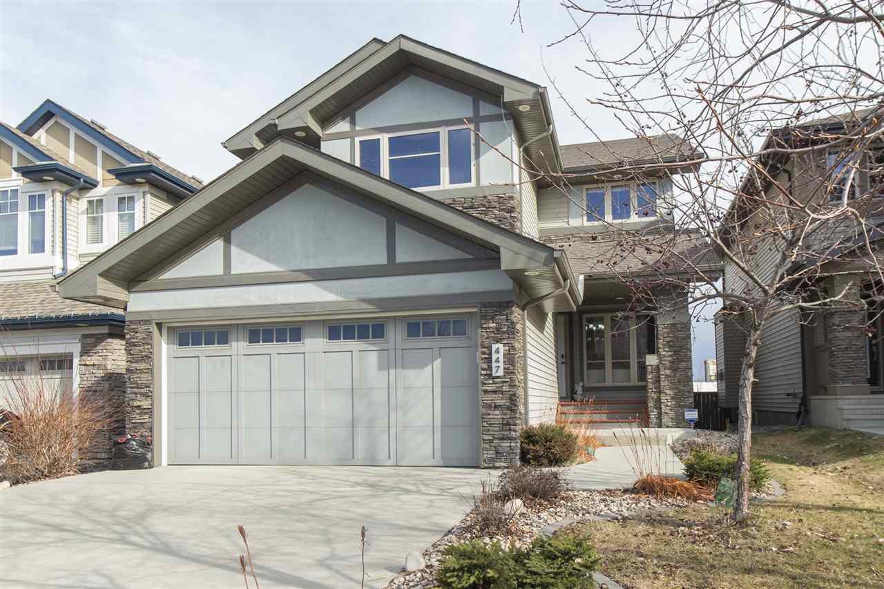 Main Photo: 447 AINSLIE Crescent in Edmonton: Zone 56 House for sale : MLS®# E4152449