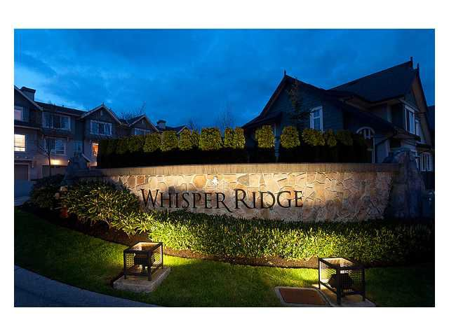 Main Photo: 9 2978 WHISPER Way in Coquitlam: Westwood Plateau Townhouse for sale : MLS®# V886018