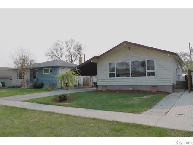 Great curb appeal with newer no-maintenance vinyl siding and aluminum soffits/fascia and eavestroughs.  Front and rear access allows you to build a garage if you desire!