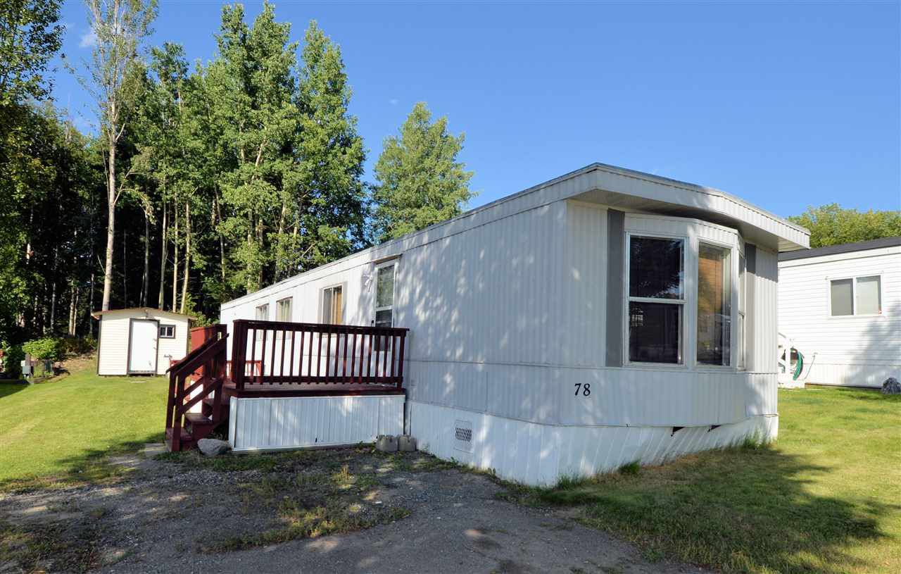"""Main Photo: 78 1000 INVERNESS Road in Prince George: Aberdeen PG Manufactured Home for sale in """"INVERNESS MOBILE ESTATES"""" (PG City North (Zone 73))  : MLS®# R2200793"""