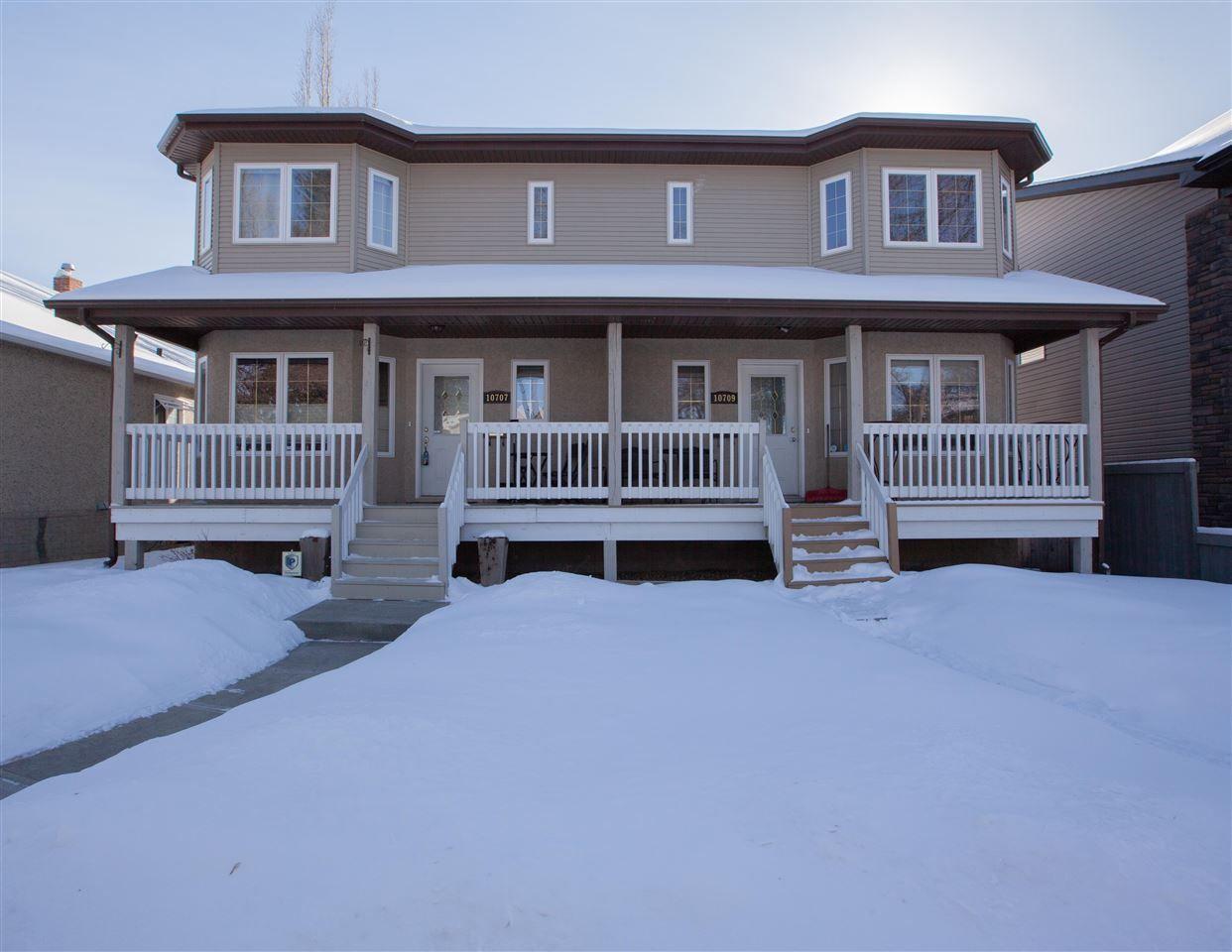 Main Photo: 10707 71 Avenue in Edmonton: Zone 15 House Half Duplex for sale : MLS®# E4145453