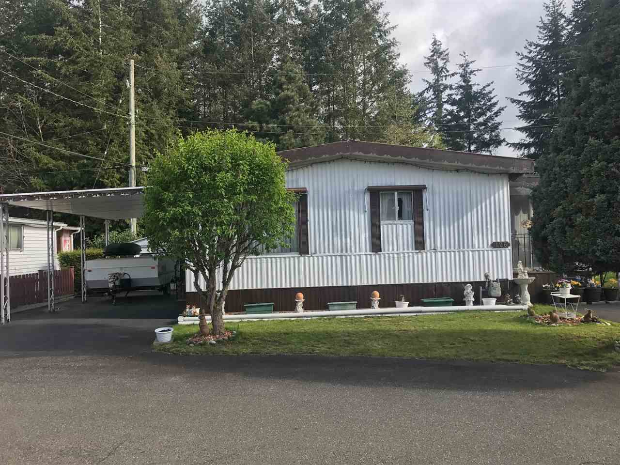 """Main Photo: 126 3031 200 Street in Langley: Brookswood Langley Manufactured Home for sale in """"CEDAR CREEK ESTATES"""" : MLS®# R2160971"""