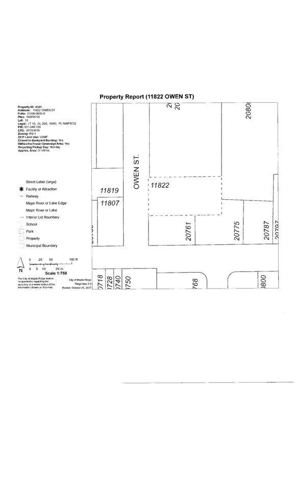 Main Photo: 11822 OWEN Street in Maple Ridge: Southwest Maple Ridge House for sale : MLS®# R2217631