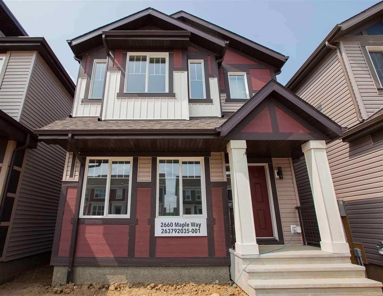 Main Photo: 2660 MAPLE Way in Edmonton: Zone 30 House for sale : MLS®# E4139352