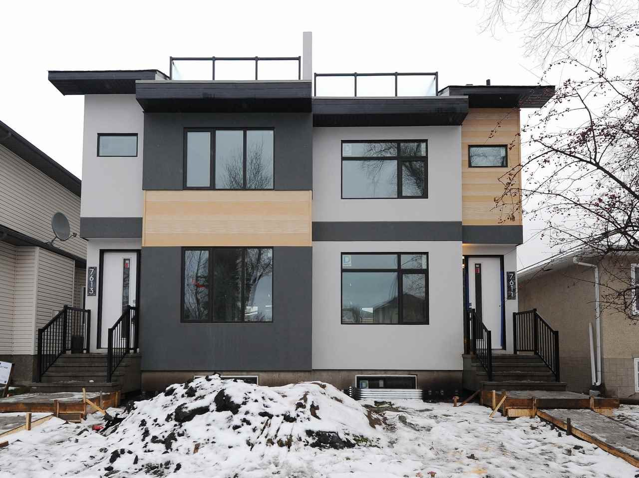 Main Photo: 7611 110 Street in Edmonton: Zone 15 House Half Duplex for sale : MLS®# E4144039