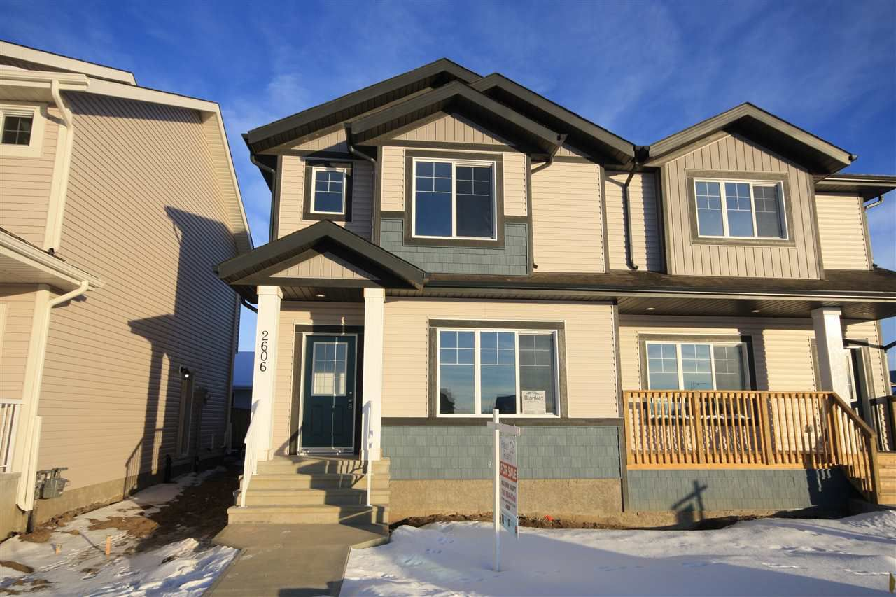 Main Photo: 2606 19A Avenue in Edmonton: Zone 30 House Half Duplex for sale : MLS®# E4155844