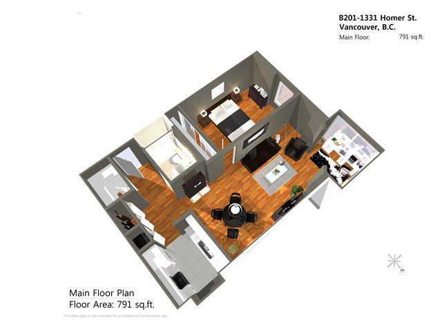 """Main Photo: B201 1331 HOMER Street in Vancouver: Yaletown Condo for sale in """"PACIFIC POINT"""" (Vancouver West)  : MLS®# V1031443"""
