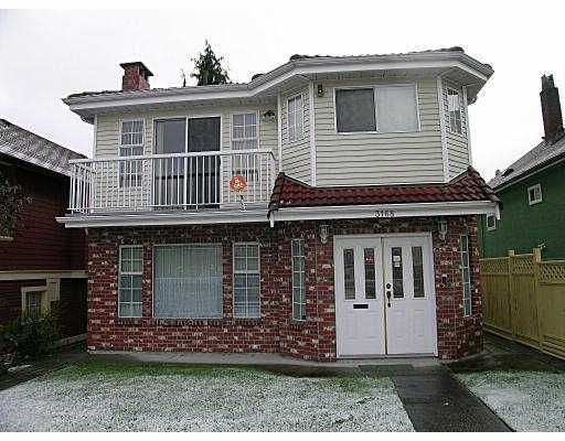 Main Photo: 3168 ADANAC ST in Vancouver: Renfrew VE House for sale (Vancouver East)  : MLS®# V567108