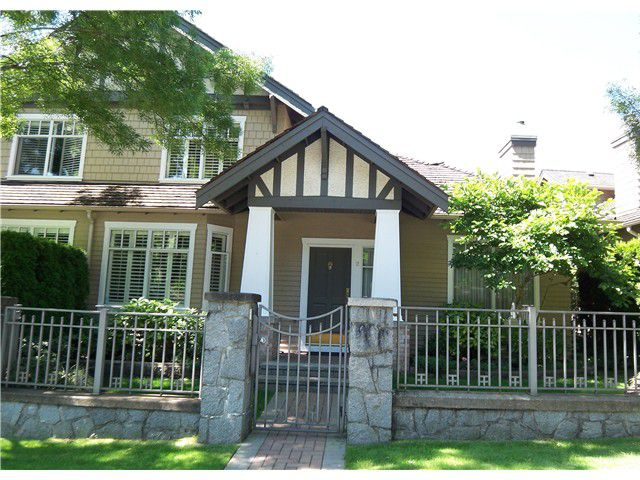 """Main Photo: 2 5650 HAMPTON Place in Vancouver: University VW Townhouse for sale in """"THE SANDRINGHAM"""" (Vancouver West)  : MLS®# V902150"""