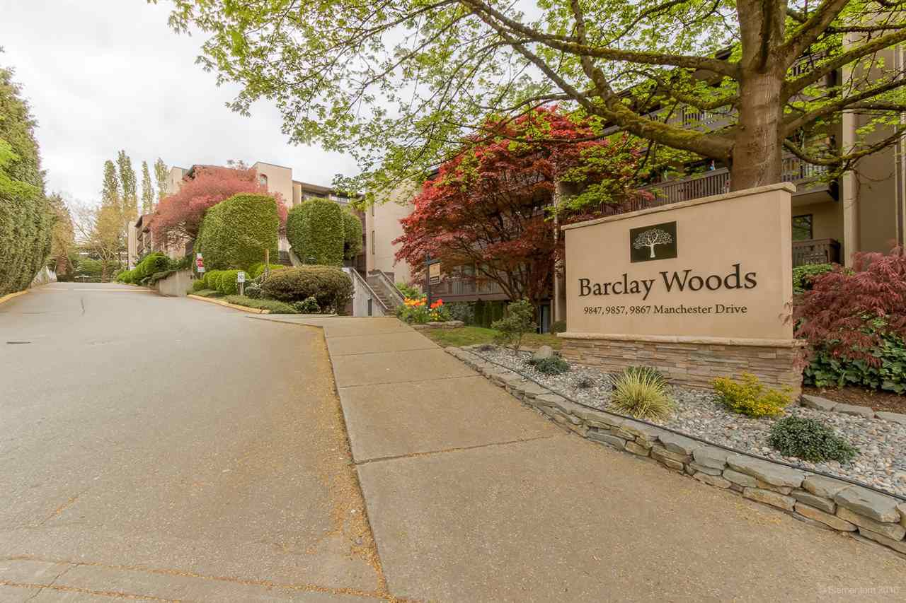 """Main Photo: 304 9867 MANCHESTER Drive in Burnaby: Cariboo Condo for sale in """"BARCLAY WOODS"""" (Burnaby North)  : MLS®# R2339998"""