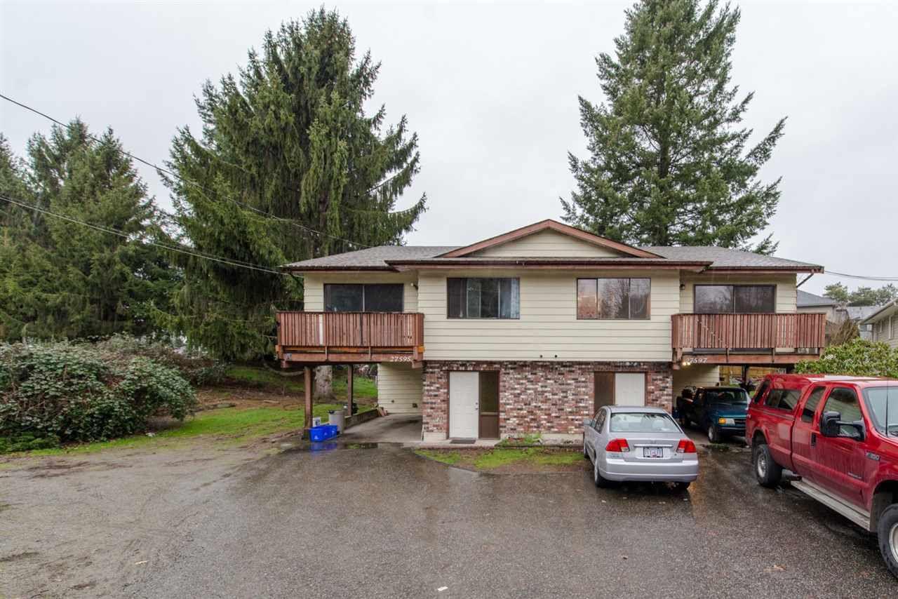 Main Photo: 27595 - 27597 28 Avenue in Langley: Aldergrove Langley House Duplex for sale : MLS®# R2031731