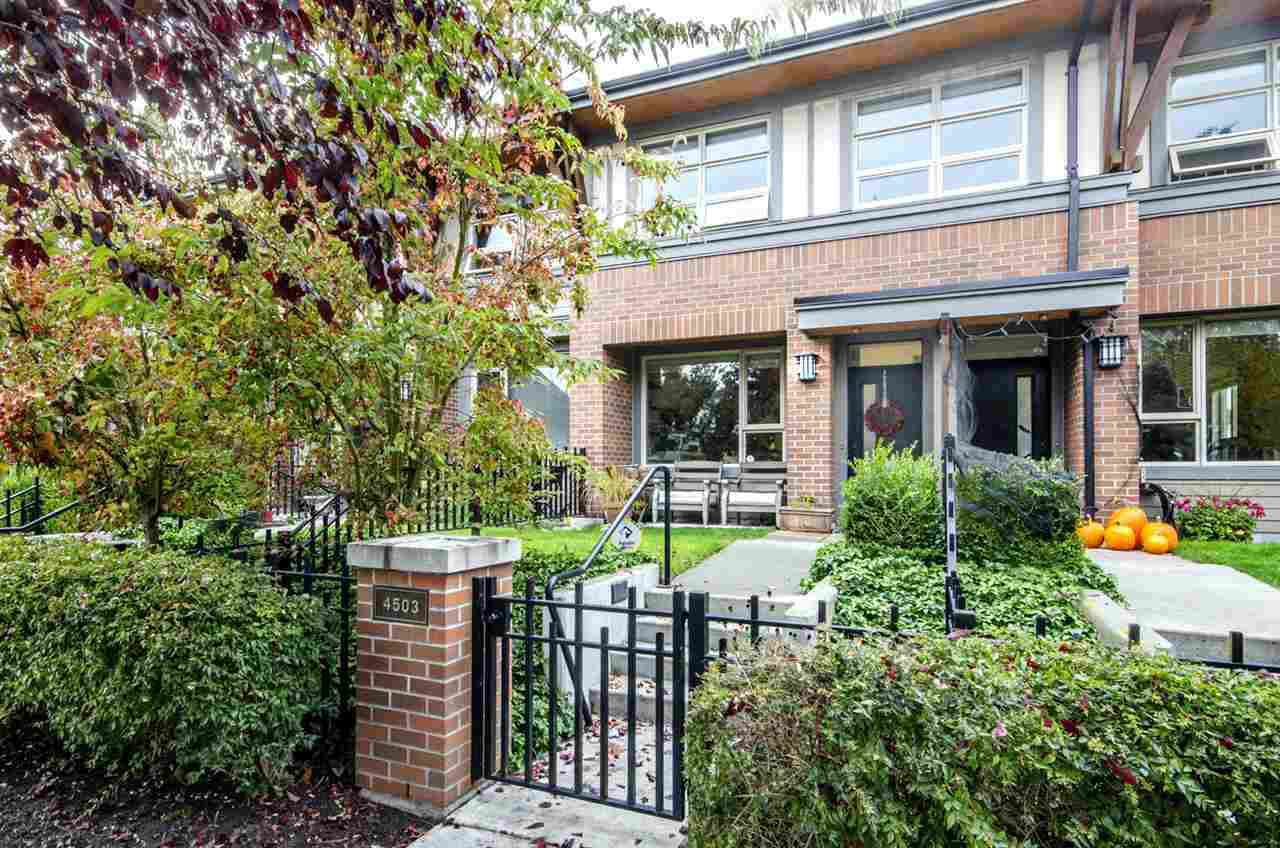 """Main Photo: 4503 PRINCE ALBERT Street in Vancouver: Fraser VE Townhouse for sale in """"Century Signature Collection"""" (Vancouver East)  : MLS®# R2337403"""